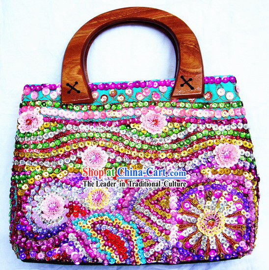 Indian Stunning Hand Made and Embroidered Handbag