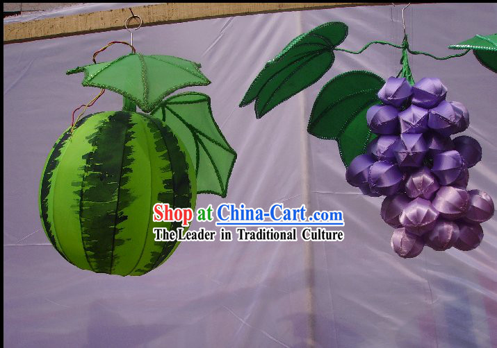 Hand Made Chinese Traditional Animals, Fruits and Cartoon Silk Lanterns