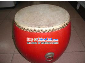 Chinese Traditional 33.3cm Diameter Red Drum
