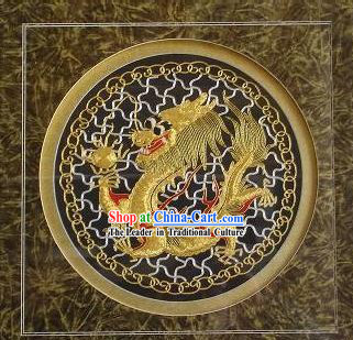 Chinese Classic Hand Embroidered Dragon Head Lion