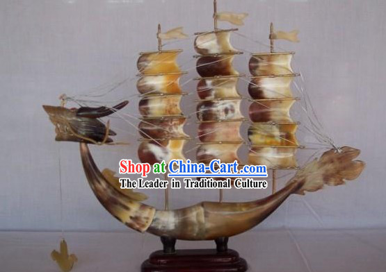 Chinese Hand Made Oxhorn Boat
