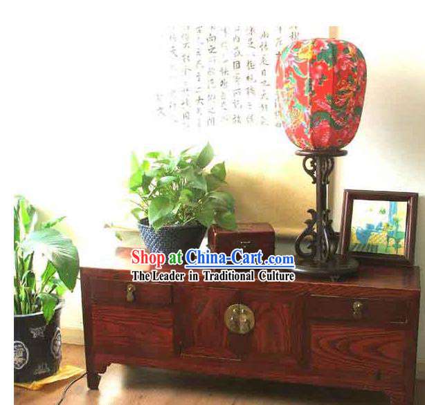 26 Inches Height Archaize Chinese Walnut Dragon and Phoenix