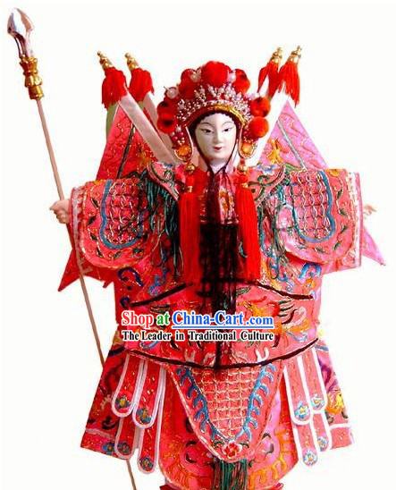 Chinese Classic Original Hand Puppet Handicraft - Mu Guiying