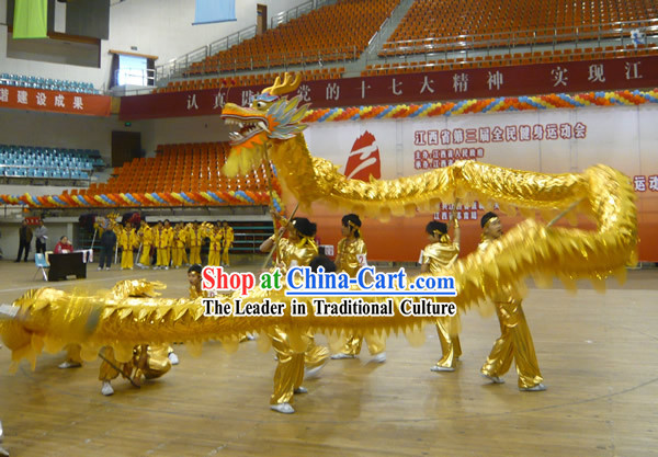 Shinning Grand Opening and Big Celebration Golden Dragon Dance Costumes Complete Set