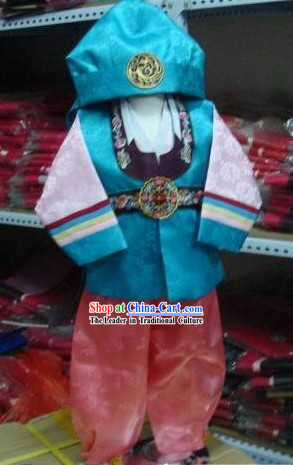 Korean Traditional Handmade Hanbok for Boys (blue)
