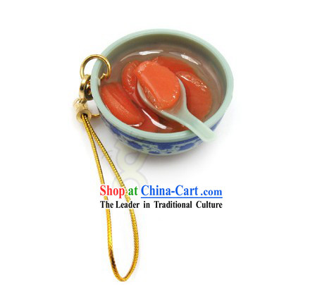 Orange Soup Shape Kep Chain - Christmas and New Year Gift