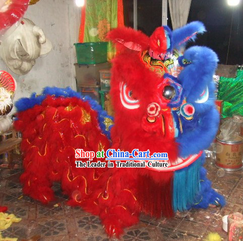 Peking Opera Mask Style Lion Dance Costumes Complete Set
