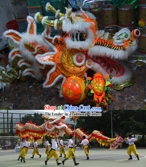 Supreme Chinese Classical Large Dragon Dance Costume Complete Set