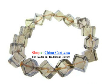 Kai Guang Feng Shui Chinese Tea-coloured Crystal Bracelet _healthy and happy_