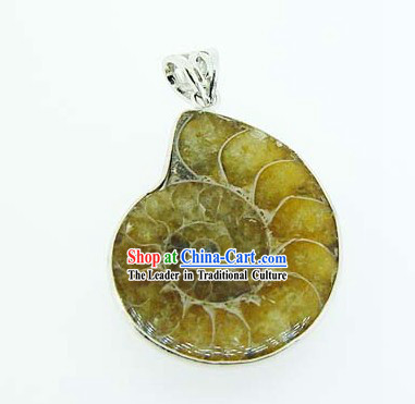 Kai Guang Feng Shui Chinese Colorful Stripes Trumpet Shell Pendant _harmony_