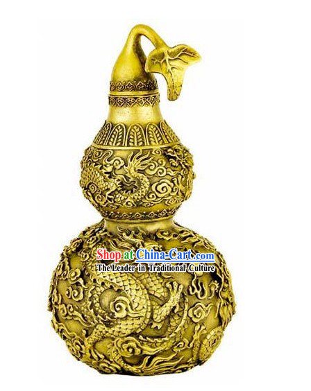 Kai Guang Feng Shui Chinese Golding Dragon Bottle Gourd _good for old and young_