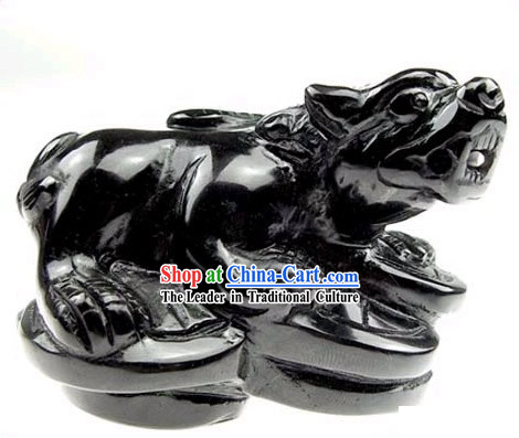 Chinese Classic Feng Shui Obsidian Pi Xiu _avoid evil and bring wealth_