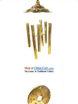 Chinese Classic Kai Guang Brass Windbell _avoid evil and keep you safe_