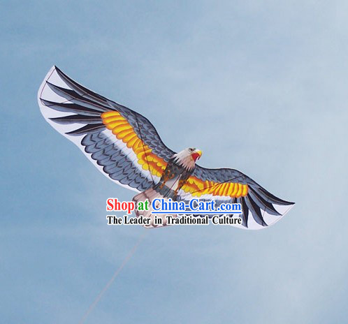 Chinese Traditional Weifang Hand Painted and Made Kite - Bald Eagle