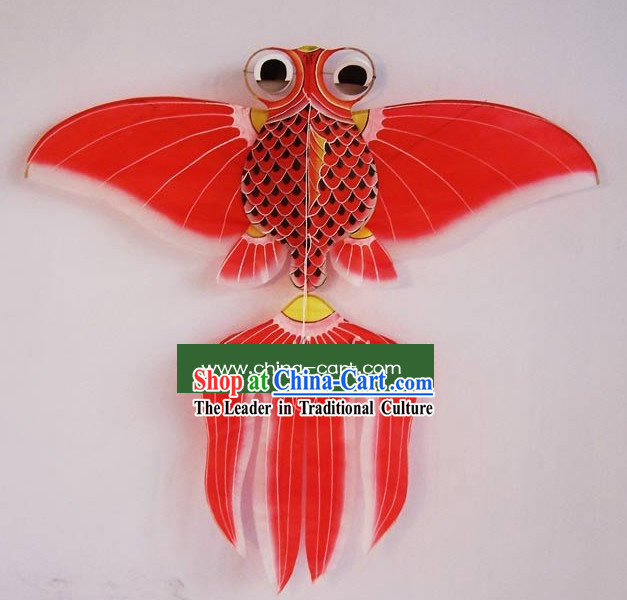 Chinese Traditional Weifang Hand Painted and Made Kite - Goldfish