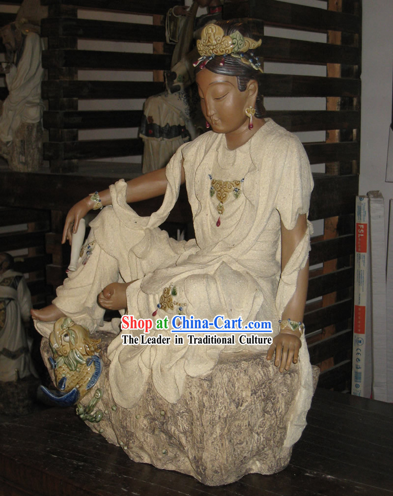 Chinese Classic Shiwan Ceramics Statue Collection - Kwan-yin