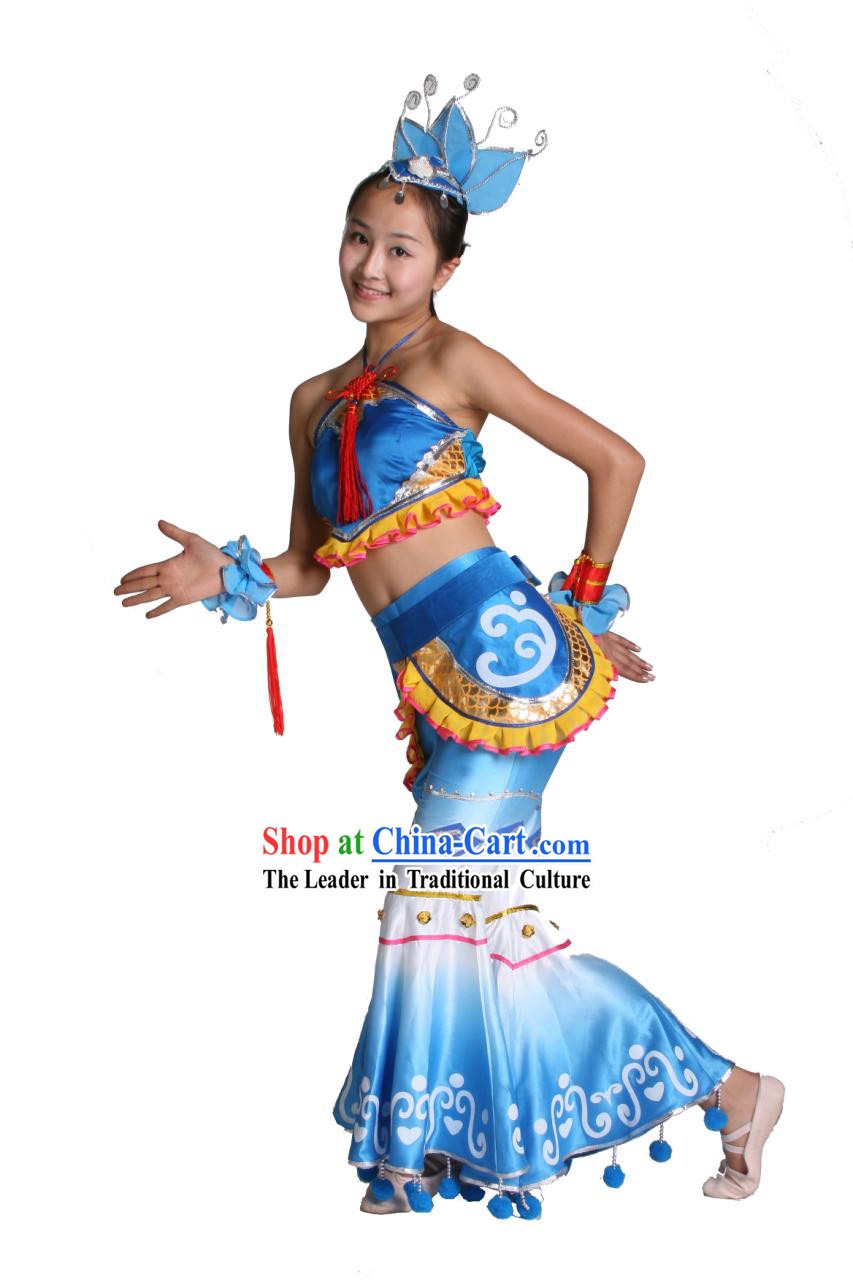Chinese Traditional Dance Costumes Complete Set