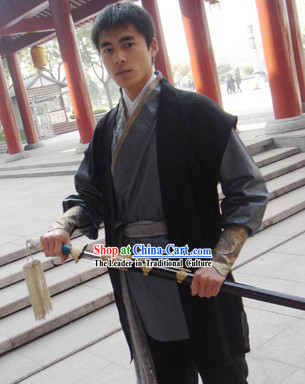 Chinese Ancient Han Dynasty Martial Arts Chivalry Costumes for Men