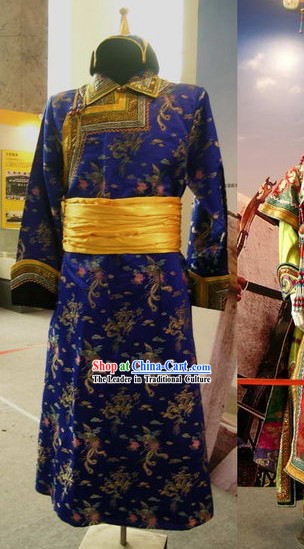 China Minority Classical Ethnic Clothing and Hat Complete Set