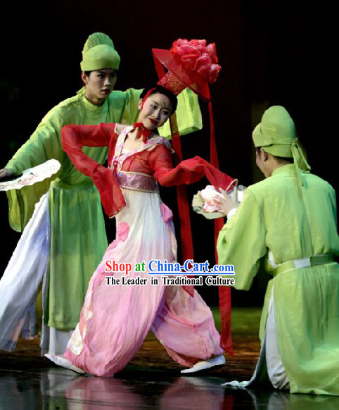 Chinese Ancient Tang Dynasty Men Theatrical Costumes Complete Set