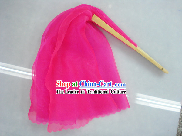 Chinese Traditional Pink Silk Dance Fan