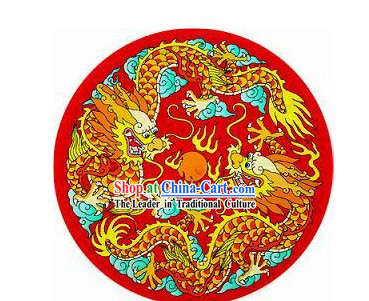 Chinese Ancient Palace Dragon and Phoenix Decoration Umbrella