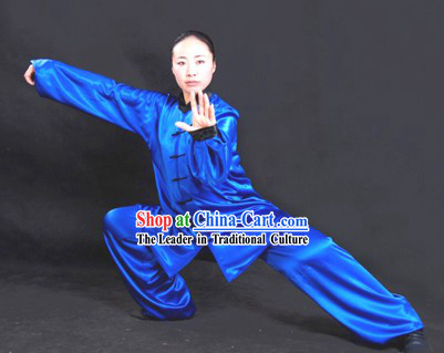 Chinese Professional Martial Arts Tai Chi Uniform Complete Set for Both Women and Men