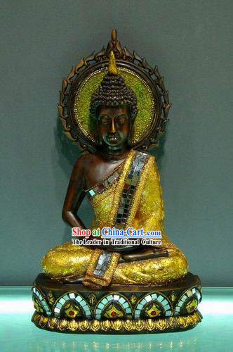 Large Southeast Asia Thai Arts Sun Buddha Figurine