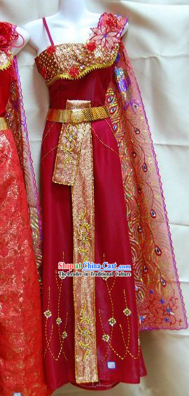 Thai Classic Court Dress Complete Set
