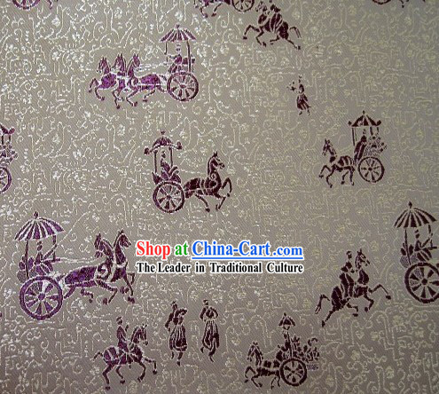Ancient People Brocade Fabric