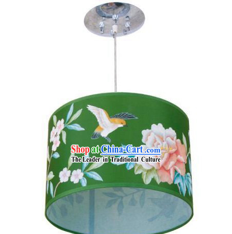 Chinese Silk Handpainted Lantern _ Palace Flower and Bird Lantern