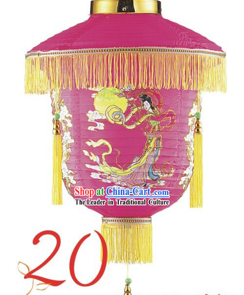 20 Inch Chinese Chang Er Flower Basket Lantern