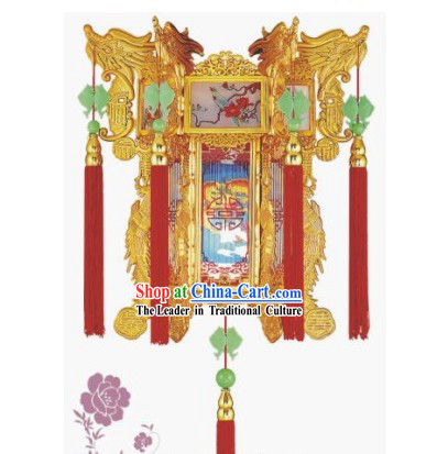 Happy Festival Celebration Traditional Dragon Palace Lantern