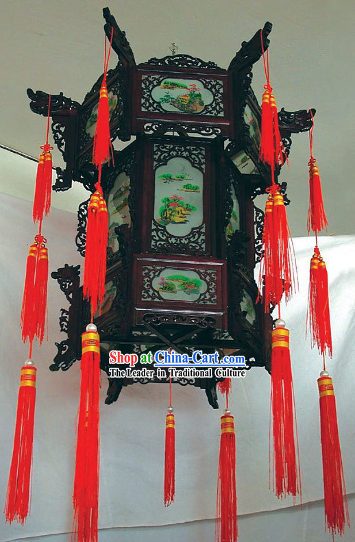 30 Inch Height Large Three Layers Palace Lantern