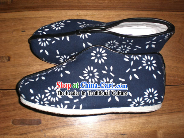Chinese Handmade Batik Cotton Shoes