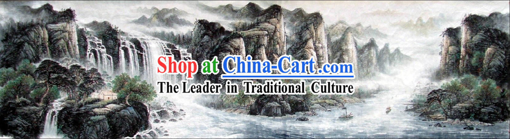 Chinese Famous Nature Paintings - Lushan Waterfall