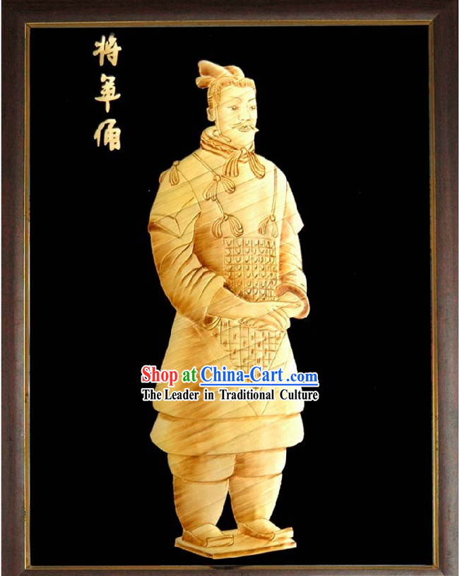Chinese Handmade Wheat Stalk Painting - Terra-cotta Figures / Terra Cotta Warriors