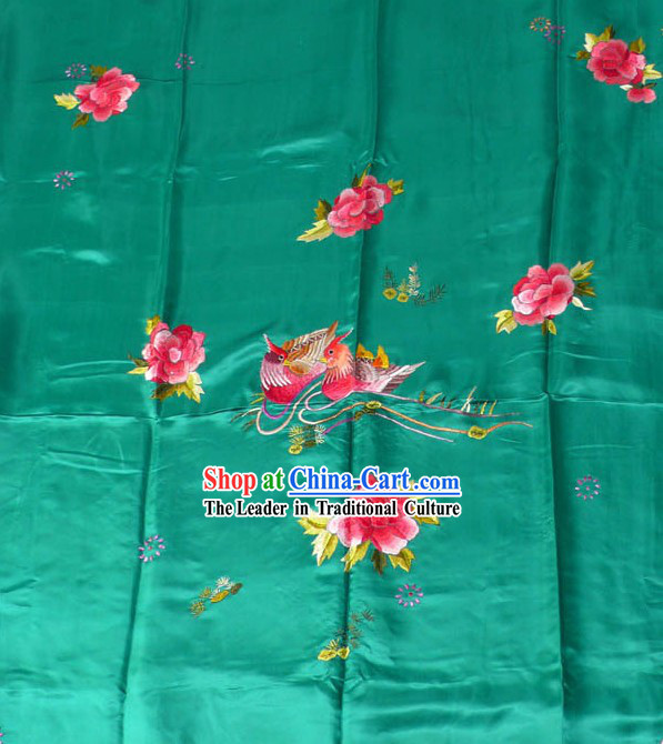 Chinese Classic Hand Embroidery Silk Bedcover - Mandarin Ducks