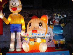 Made to Order Traditional Cartoon Electric Light up Lanterns Set