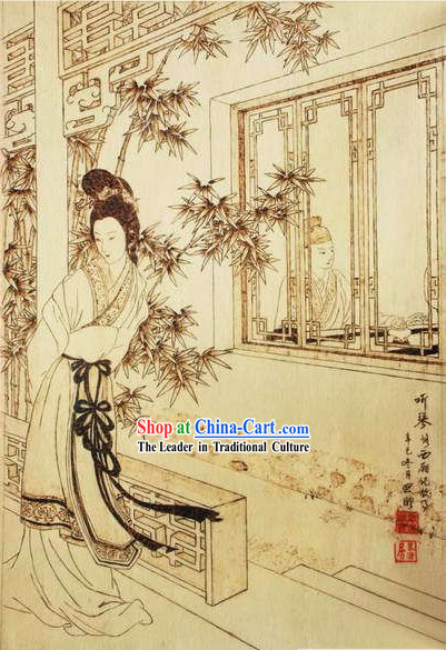 Chinese Film and Stage Performance and Photo Studio Traditional Painting Prop - Ancient Beauty