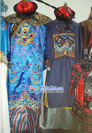Top Quality Chinese Movie Vampire Dress Costumes and Hat for Halloween