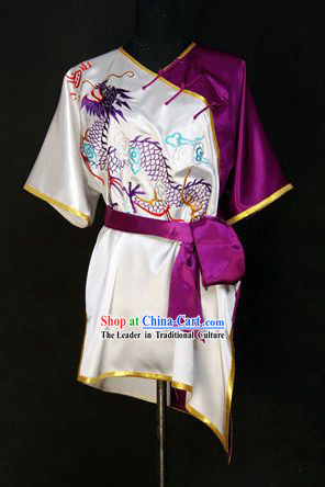 China Martial Arts Tai Chi Embroidered Dragon Uniform