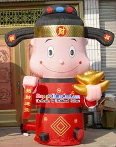 Large Chinese Traditional Inflatable Money God