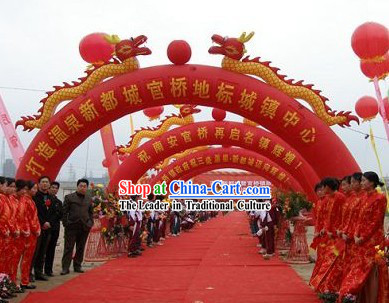Large Chinese Inflatable Dragons Arch