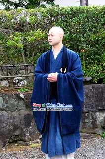Chinese Monk Robe and Shoes Set Ancient Chinese Traditional Dress Male