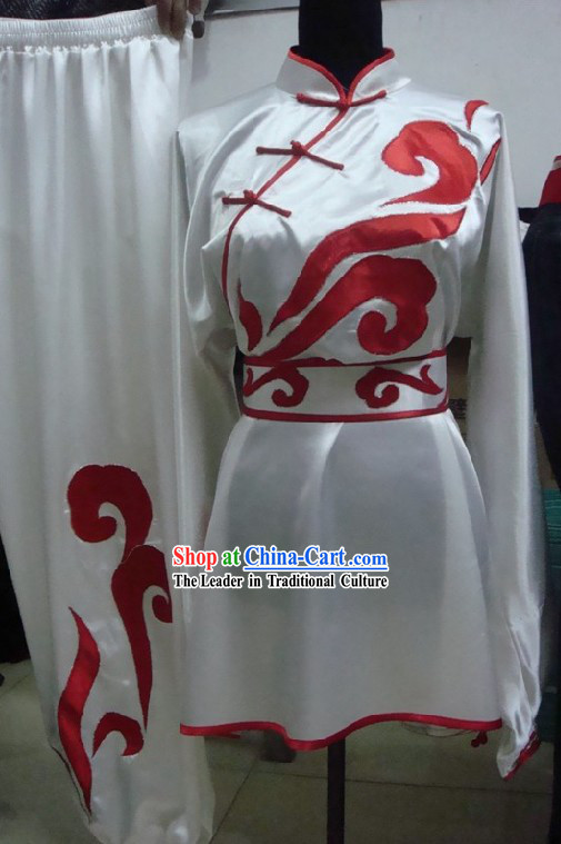 Chinese Silk Embroidered Tai Chi Uniform Complete Set