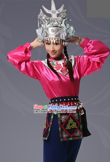 China Shui Minority Silver and Dress Complete Set