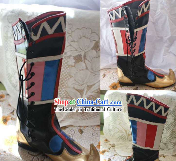 Chinese Ethnic Mongolian Boots for Women
