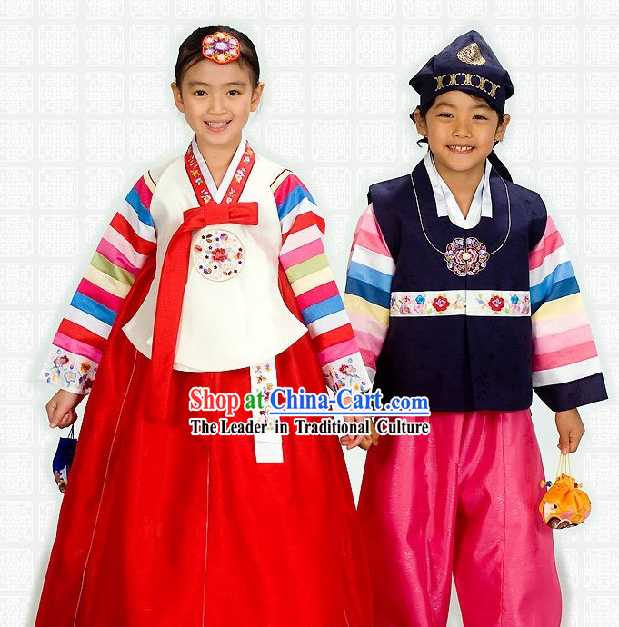 Traditional Korean Children Hanbok 2 Sets
