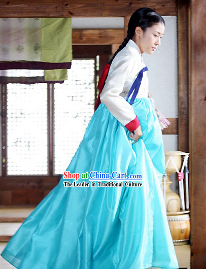 Traditional Korean Hanbok Costume Complete Set for Women